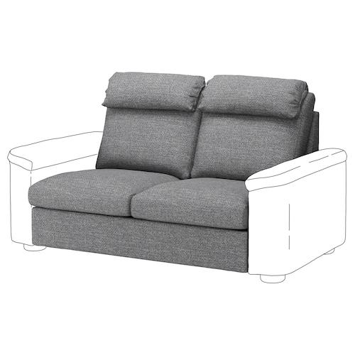 LIDHULT 2-seat section Lejde grey/black 95 cm 76 cm 141 cm 97 cm 38 cm