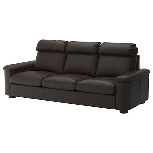 LIDHULT 3-seat sofa Grann/Bomstad dark brown 102 cm 76 cm 259 cm 98 cm 7 cm 211 cm 53 cm 45 cm