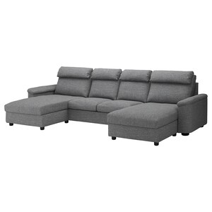 Cover: With chaise longues/lejde grey/black.