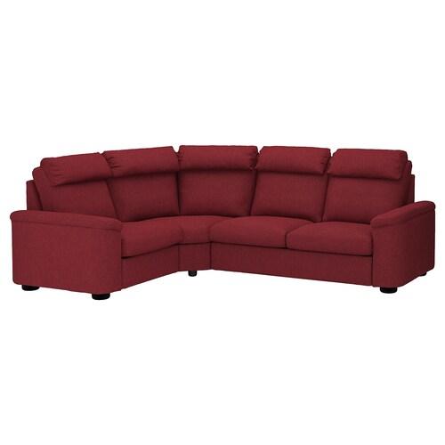 LIDHULT corner sofa, 4-seat Lejde red-brown 102 cm 76 cm 98 cm 275 cm 205 cm 7 cm 53 cm 45 cm