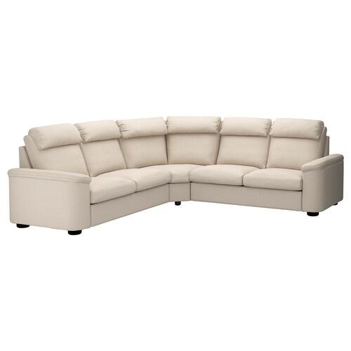 LIDHULT corner sofa, 5-seat Gassebol light beige 102 cm 76 cm 98 cm 275 cm 275 cm 7 cm 53 cm 45 cm
