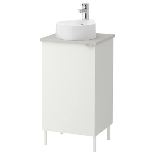 LILLÅNGEN/VISKAN / GUTVIKEN washbasin cabinet with 1 door white/grey Ensen tap 42 cm 40 cm 87 cm