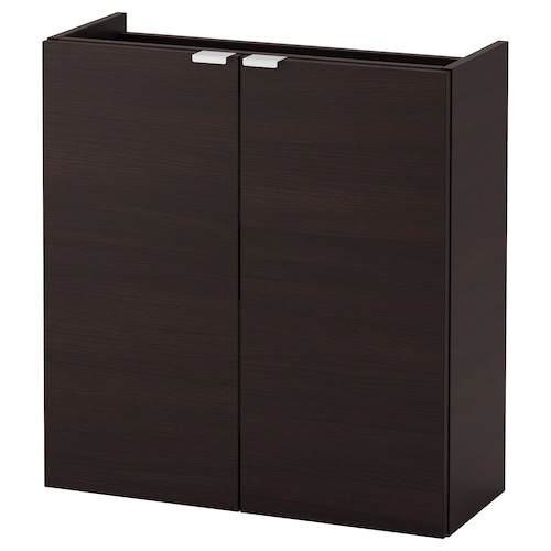 LILLÅNGEN wash-basin cabinet with 2 doors black-brown 60 cm 25 cm 64 cm