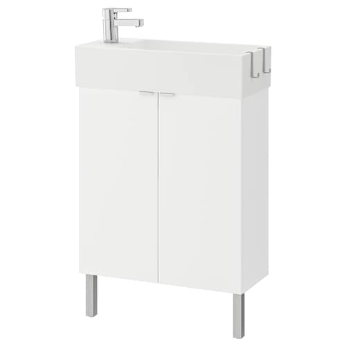 LILLÅNGEN washbasin cabinet with 2 doors white/Ensen tap 62 cm 60 cm 27 cm 93 cm