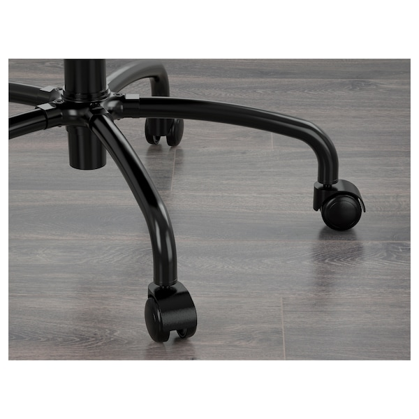 LILLHÖJDEN Swivel chair, Idemo black