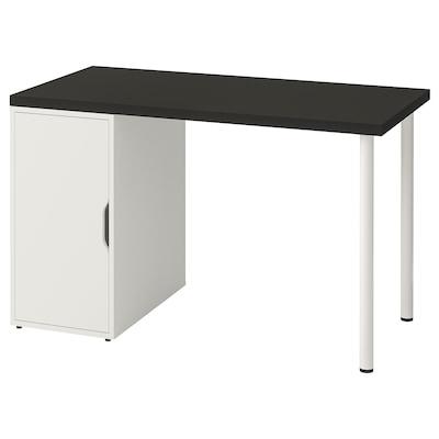 LINNMON / ALEX Table, black-brown/white, 120x60 cm