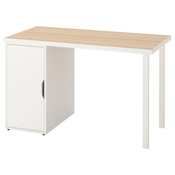 LINNMON / GODVIN Table, white white stain/white, 120x60 cm