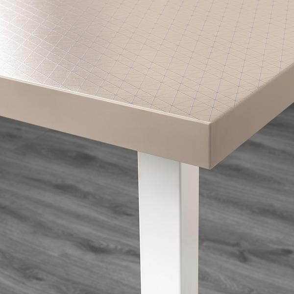 LINNMON / GODVIN table geometric beige/white 120 cm 60 cm 74 cm