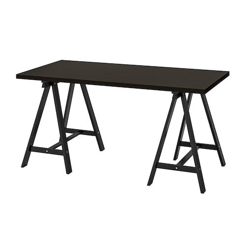 LINNMON / ODDVALD table black-brown/black 150 cm 75 cm 73 cm 50 kg