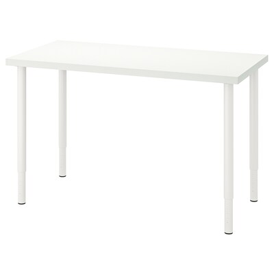 LINNMON / OLOV Table, white, 120x60 cm