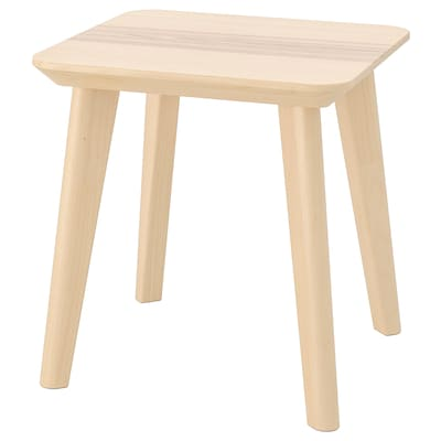 LISABO Side table, ash veneer, 45x45 cm