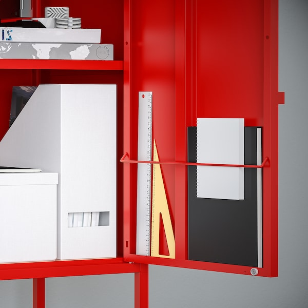 LIXHULT Cabinet, metal/red, 35x60 cm