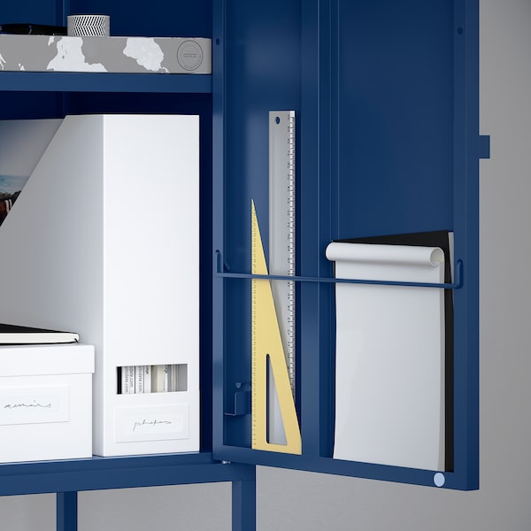 LIXHULT storage combination dark blue 120 cm 142 cm 140 cm 35 cm 142 cm 21 cm 12 kg