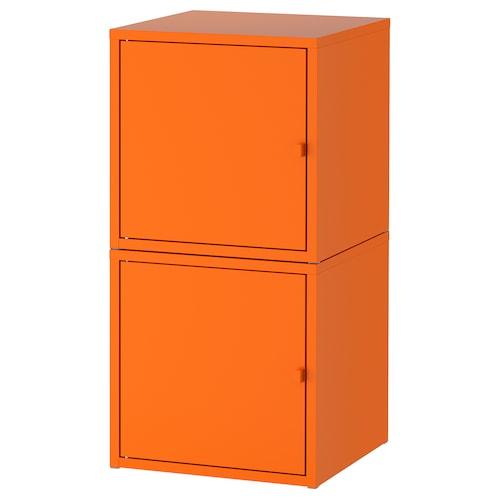 LIXHULT storage combination orange/orange 35 cm 35 cm 70 cm