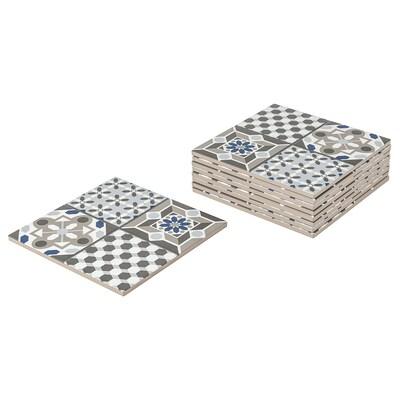 MÄLLSTEN Top part, outdoor floor decking, blue/white, 0.81 m²