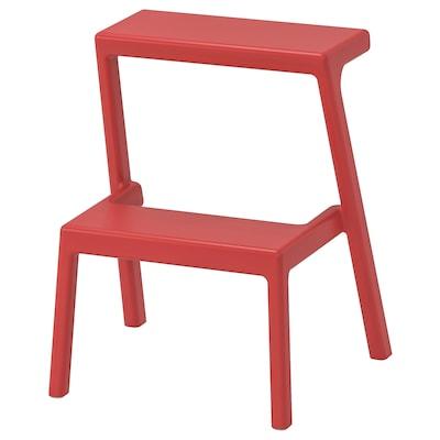 MÄSTERBY Step stool, brown-red