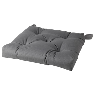 MALINDA Chair cushion, grey, 40/35x38x7 cm