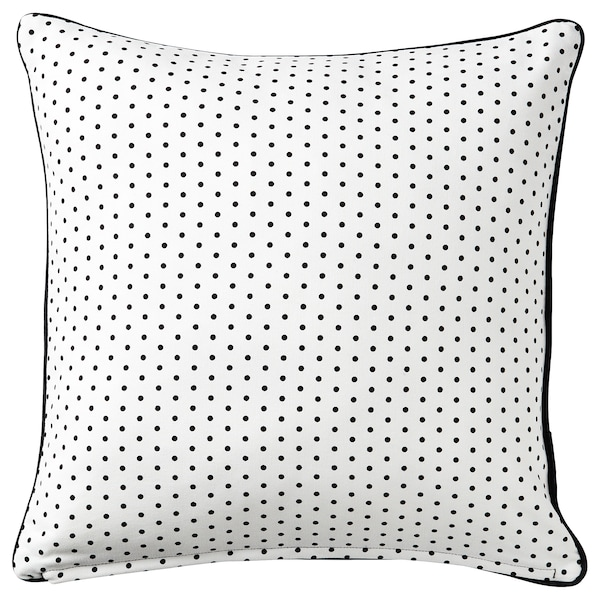 MALINMARIA Cushion, dark grey/white dotted, 40x40 cm