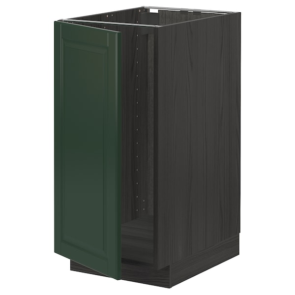 METOD خزانة قاعدة لحوض/فرز نفايات, أسود/Bodbyn أخضر غامق, 40x60 سم