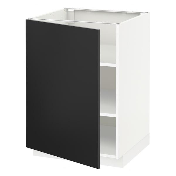 METOD base cabinet with shelves white/Uddevalla anthracite 60.0 cm 61.7 cm 88.0 cm 60.0 cm 80.0 cm