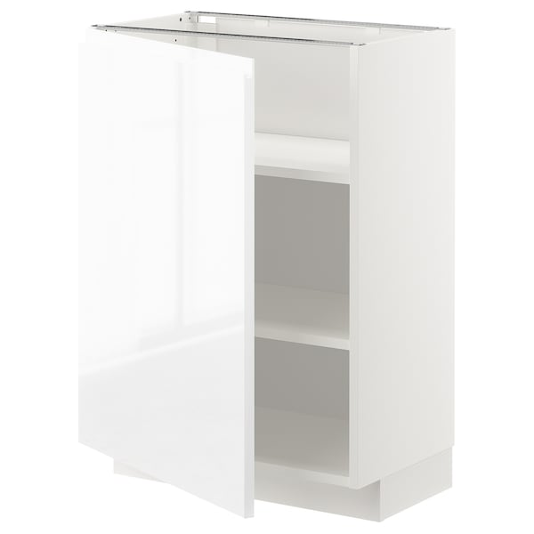 METOD base cabinet with shelves white/Voxtorp high-gloss/white 60.0 cm 39.5 cm 88.0 cm 37.0 cm 80.0 cm
