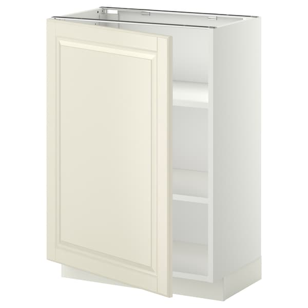 METOD base cabinet with shelves white/Bodbyn off-white 60.0 cm 39.5 cm 88.0 cm 37.0 cm 80.0 cm
