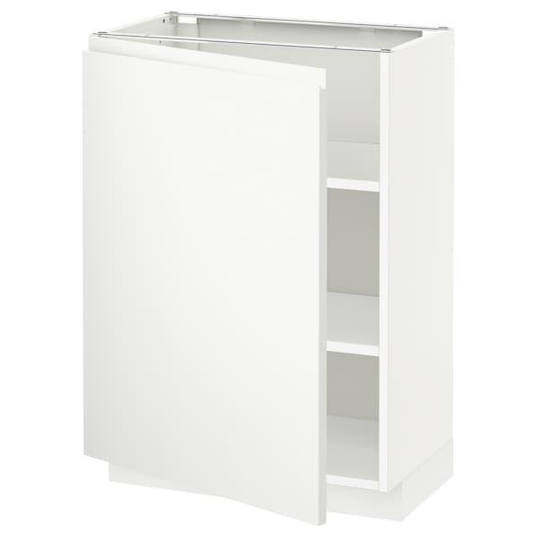 METOD base cabinet with shelves white/Voxtorp matt white 60.0 cm 39.5 cm 88.0 cm 37.0 cm 80.0 cm