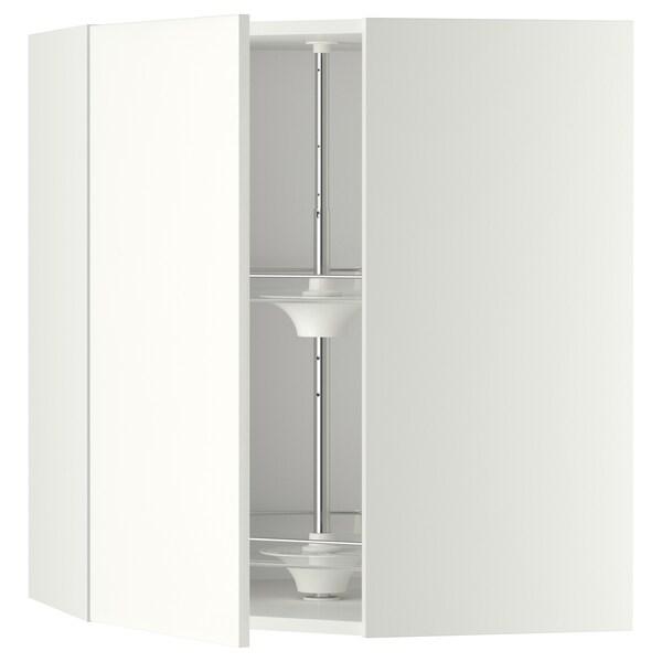 METOD خزانة حائط ركنية مع درج دوار, أبيض/Haggeby أبيض, 68x80 سم
