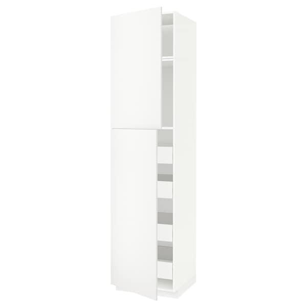 METOD / FÖRVARA hi cab w 2 doors/4 drawers white/Häggeby white 60.0 cm 61.6 cm 248.0 cm 60.0 cm 240.0 cm