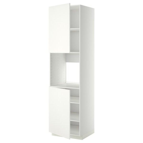 METOD high cab f oven w 2 doors/shelves white/Häggeby white 60.0 cm 61.6 cm 228.0 cm 60.0 cm 220.0 cm