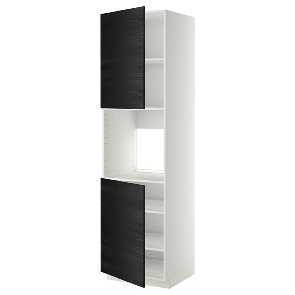METOD high cab f oven w 2 doors/shelves white/Tingsryd black 60.0 cm 61.6 cm 228.0 cm 60.0 cm 220.0 cm
