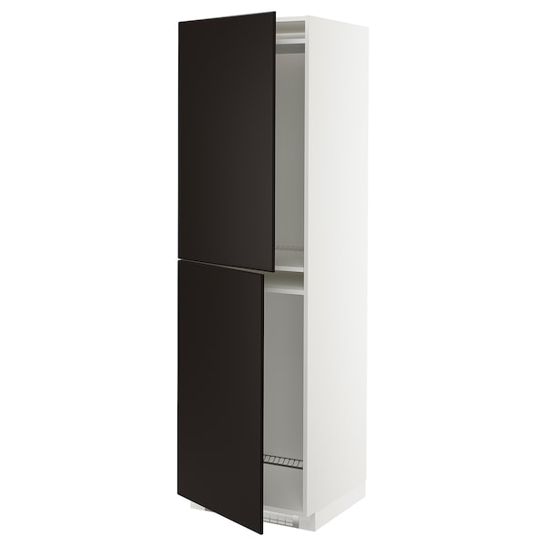 METOD high cabinet for fridge/freezer white/Kungsbacka anthracite 60.0 cm 61.6 cm 208.0 cm 60.0 cm 200.0 cm