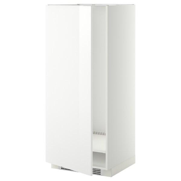 METOD High cabinet for fridge/freezer, white/Ringhult white, 60x60x140 cm