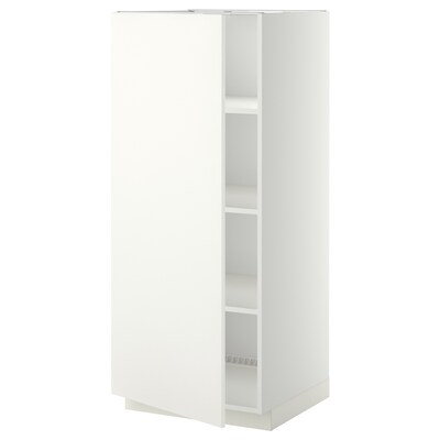 METOD High cabinet with shelves, white/Häggeby white, 60x60x140 cm