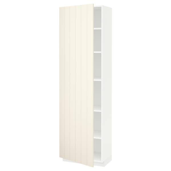 METOD High cabinet with shelves, white/Hittarp off-white, 60x37x200 cm