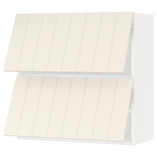 METOD wall cabinet horizontal w 2 doors white/Hittarp off-white 80.0 cm 38.8 cm 80.0 cm