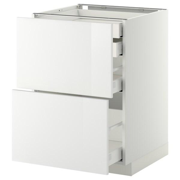 METOD / MAXIMERA خ. قاعدة2واجه/2 منخفض/1وسط/1 علوي, أبيض/Ringhult أبيض, 60x60 سم