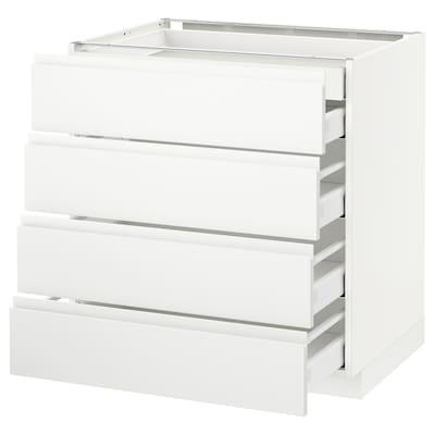 METOD / MAXIMERA Base cb 4 frnts/2 low/3 md drwrs, white/Voxtorp matt white, 80x60 cm