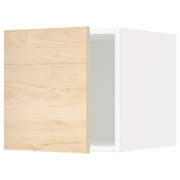 METOD Top cabinet, white/Askersund light ash effect, 40x40 cm