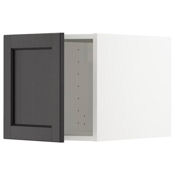 METOD Top cabinet, white/Lerhyttan black stained, 40x40 cm