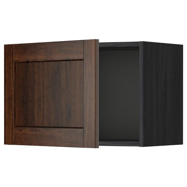 METOD خزانة حائط, أسود/Edserum بني, 60x40 سم