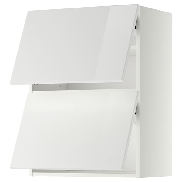 METOD Wall cabinet horizontal w 2 doors, white/Ringhult white, 60x80 cm