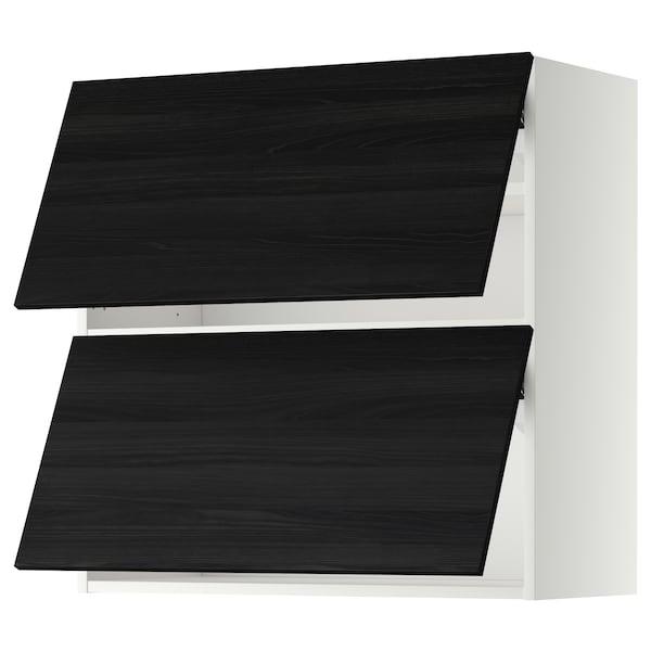 METOD wall cabinet horizontal w 2 doors white/Tingsryd black 80.0 cm 38.6 cm 80.0 cm
