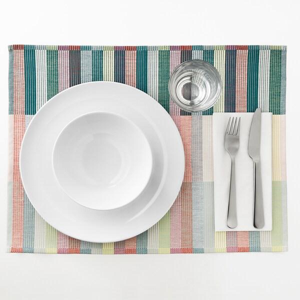 MITTBIT مفرش أطباق, زهري تركواز/أخضر فاتح, 45x35 سم
