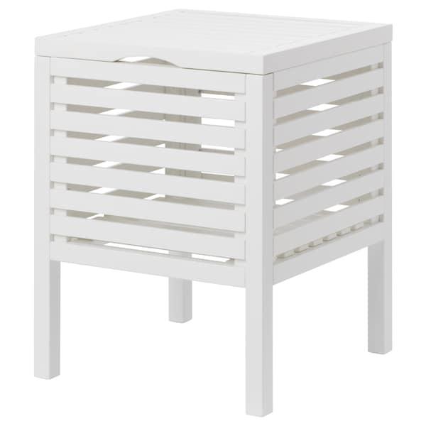MUSKAN Storage stool, white, 50 cm