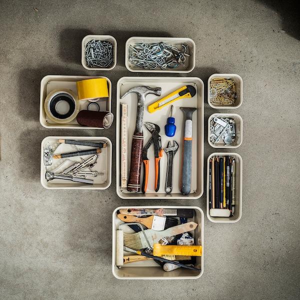NOJIG منظم, بلاستيك/بيج, 15x20x5 سم