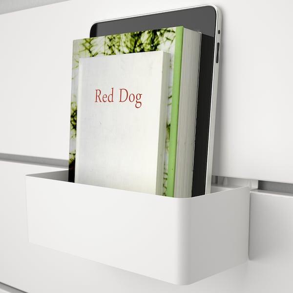 NORDLI Bed frame w storage and headboard, white, 140x200 cm