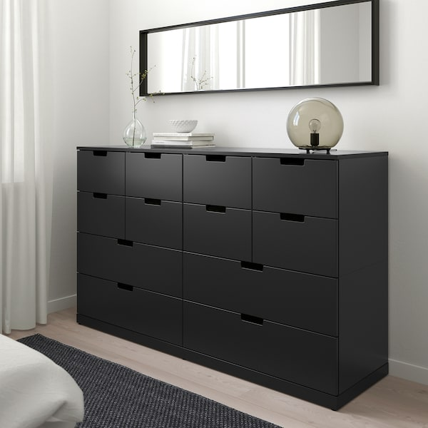 NORDLI Chest of 12 drawers, anthracite, 160x99 cm