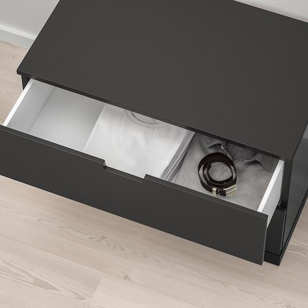 NORDLI Chest of 2 drawers, anthracite, 80x54 cm