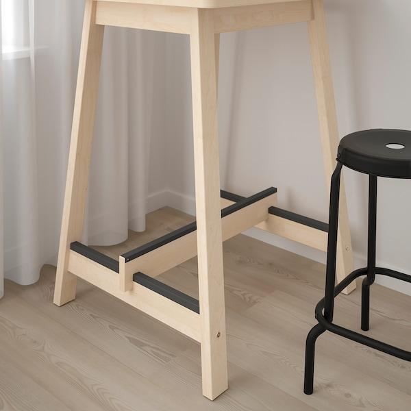 NORRÅKER Bar table, birch, 74x74 cm